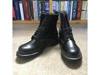 BRAND NEW - Dr Martens 8-Eye Black/Mono Smooth - Size UK7