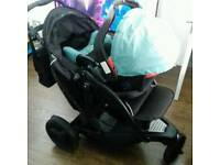 Graco double / single pushchair
