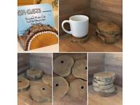 Stackable wooden coasters
