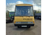 Left hand drive Toyota Dyna 300 6 tyres 20 seats bus. Manual injector pump.