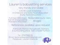 Lauren's babysitting services 👧🏽👦🏼