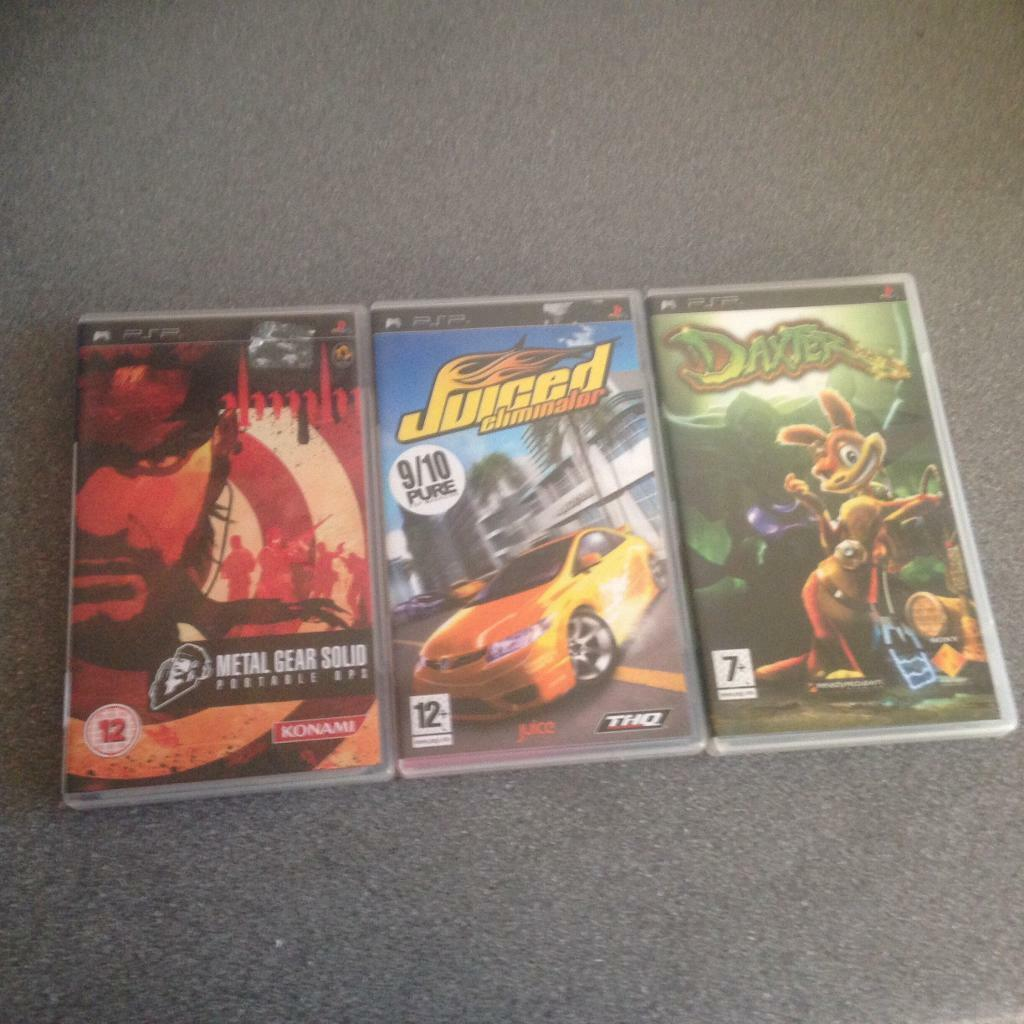 Sony PSP games collection d