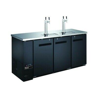 Peakcold 72 3-door 4 Tap Beer Dispenser - Kegerator - Keg Cooler