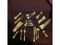 Gold colour quality cutlery set