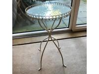 Small Round Glass patio table