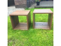 NEXT cube tables walnut excellent condition