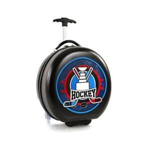Heys Kids Sports Luggage 16 Inch Wheeled Suitcase for Boys - Hockey Puck