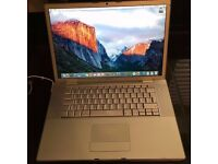 "Apple MacBook Pro A1260 15.4"" Intel 2.4ghz, 4GB ram, 200GB hard drive, Nvidia 8600GT"