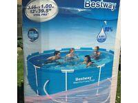Swimming Pool Bestway steel frame 12ft x 1mtr plus accessories