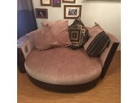 DFS 3 seater sofa and snuggle chair ( with iPod/Bluetooth speakers) *like new*