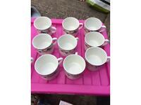 10 mugs 4 Royal Norfolk 6Crown Dynasty