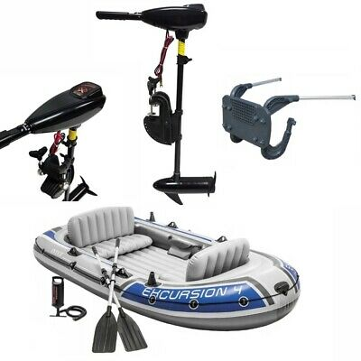 INFLATABLE BOAT DINGHY 65 lbs ELECTRIC LIGHT OUTBOARD ENGINE FISHING 4 PERSON