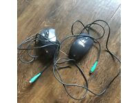 2 x PC mouse - PS-2 port connector