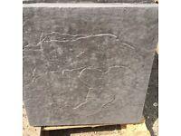 Riven paving slabs
