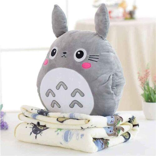 Totoro 3 in 1 Pillow Blanket Plush Toy Doll Anime Miyazaki Hayao Studio Ghibli