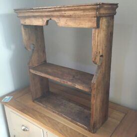 Antique shelving unit (spice rack or hallway mail shelve)