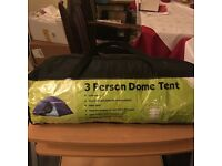Brand new 3 person dome tent for sale