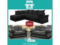 🕇New 2 Seater £229 3 Dino £249 3+2 £399 Corner Sofa £399-Brand Faux Leather & Jumbo CordⳡK3