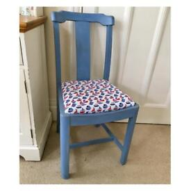 Painted Occasional Chair - Nautical - Nursery - Kids Bedroom