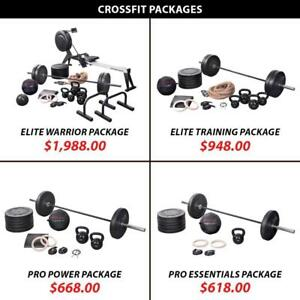 Training Bundle Crossfit Package Set Weight Kettlebell Barbell Olympic Weightlifting Powerlifting Plate Rings Rower