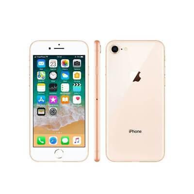"New Apple iPhone 8 64GB Gold 4.7"" WIFI 4G LTE Unlocked Smartphone 12M Warranty"