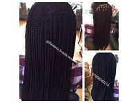 Box braids/Faux locs /cornrow /closure weave hair extension /Afro caribbean/Caucasian hair braiding