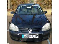 2004 (04) Black Volkswagen Golf 1.4