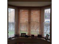 Bay Window, Wooden Venetian Blinds - Very Good condition