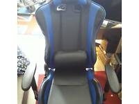 Real leather reclining gaming chair