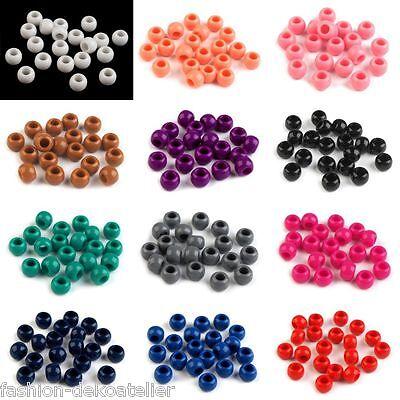 perlen Kunststoff Perlen aufffädeln Glanz Schmuck 0,03€ / St. (Große Kunststoff-perlen)