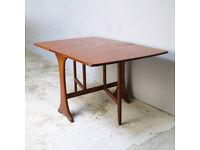 Vintage D-plan drop leaf dining table