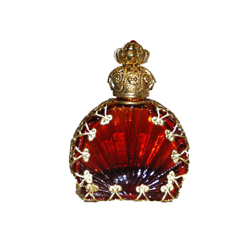 Victorian Style Brown Decorative Glass Perfume/oil/holy Water Bottle Holder