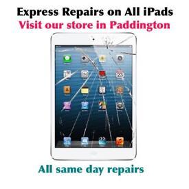 Fast Apple iPad repairs in Paddington, iPad 2, 3, 4, mini, mini 2, air, air 1, air 2