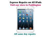 Fast Apple iPad repairs in Paddington, iPad 2, 3, 4, mini, mini 2, air, air 1, air 2