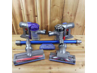 *For Parts / Repairs* Dyson Cordless Vacuum Bundle DC34 Animal DC44 Animal 2 Heads Wand