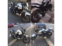 Sinnis RS 125cc motorbike £750 going low price due moving