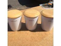 Tea, Sugar and coffee pots