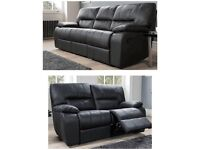 07541901770 Luxor Real 100% leather brand new 3+2 seater sofas**Free delivery**
