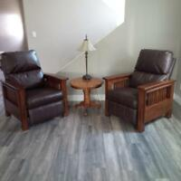 wood/leather rrcliners