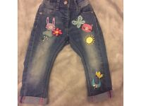 Baby girls Next character jeans 12-18 months