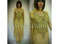 New Pakistani Fashion Shalwar kameez indian Party Wear Evening Dress ReadyMade