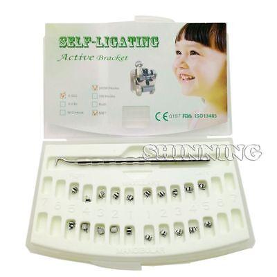 Orthodontic Active Self Ligating Brackets Mbt 0.022 Hk 345 Tool Dental Brackets