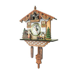 Decorative Collectibles Wooden Battery-operated Cuckoo Clock Home Decoration