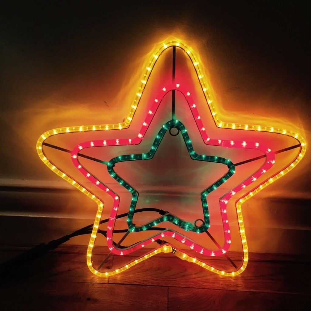 Large LED rope light star outdoor Christmas light