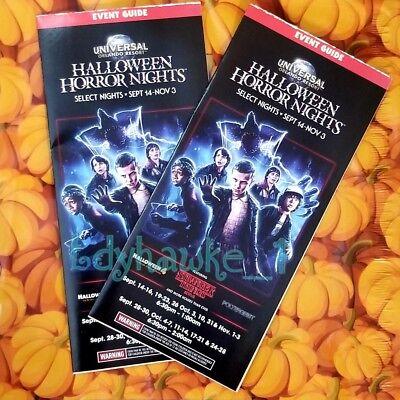 2 2018 HHN 28 Universal Studios Halloween Horror Nights Brochure Event Guide - Halloween Horror Nights Event Map