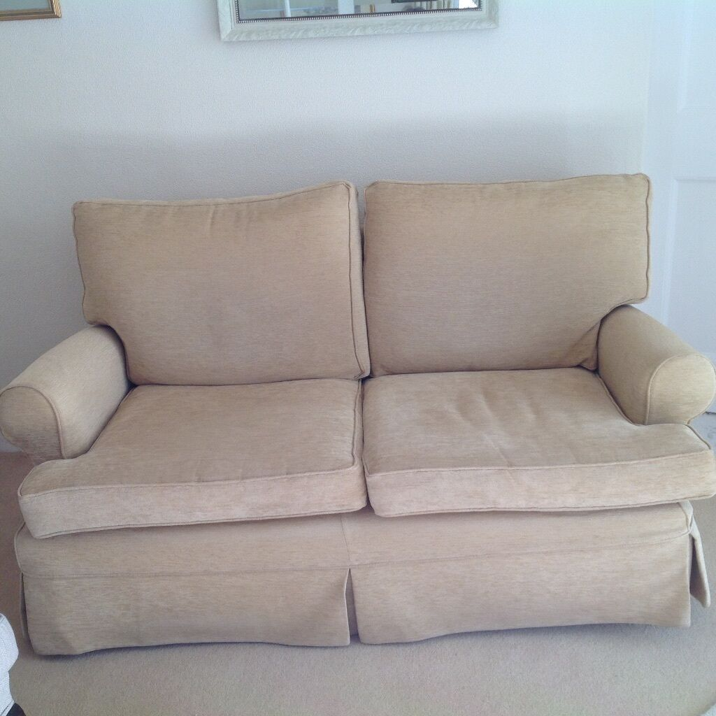 Multiyork Sofa Soft Gold In Colour With Loose Covers