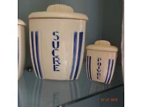 Vintage French porcelain canisters