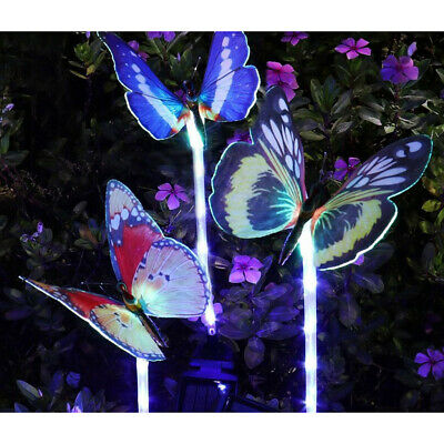10x Garden Plant Pot Decor Solar Powered LED Lamp 7 Color Changing Light