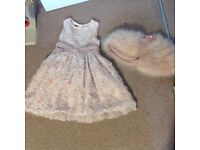 Ted Baker pink rose party/bridesmaid dress Age 5-6 years