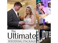 The Ultimate Wedding Package (Full Day Photography/LOVE Letters/3hr Photo Booth) £1149